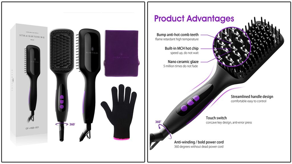 Glamfields Heated MCH Hair Straightening Brush