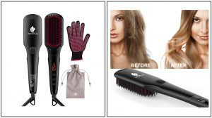 MiroPure 2-in-1 Ionic Straightening Brush With Anti-Scald