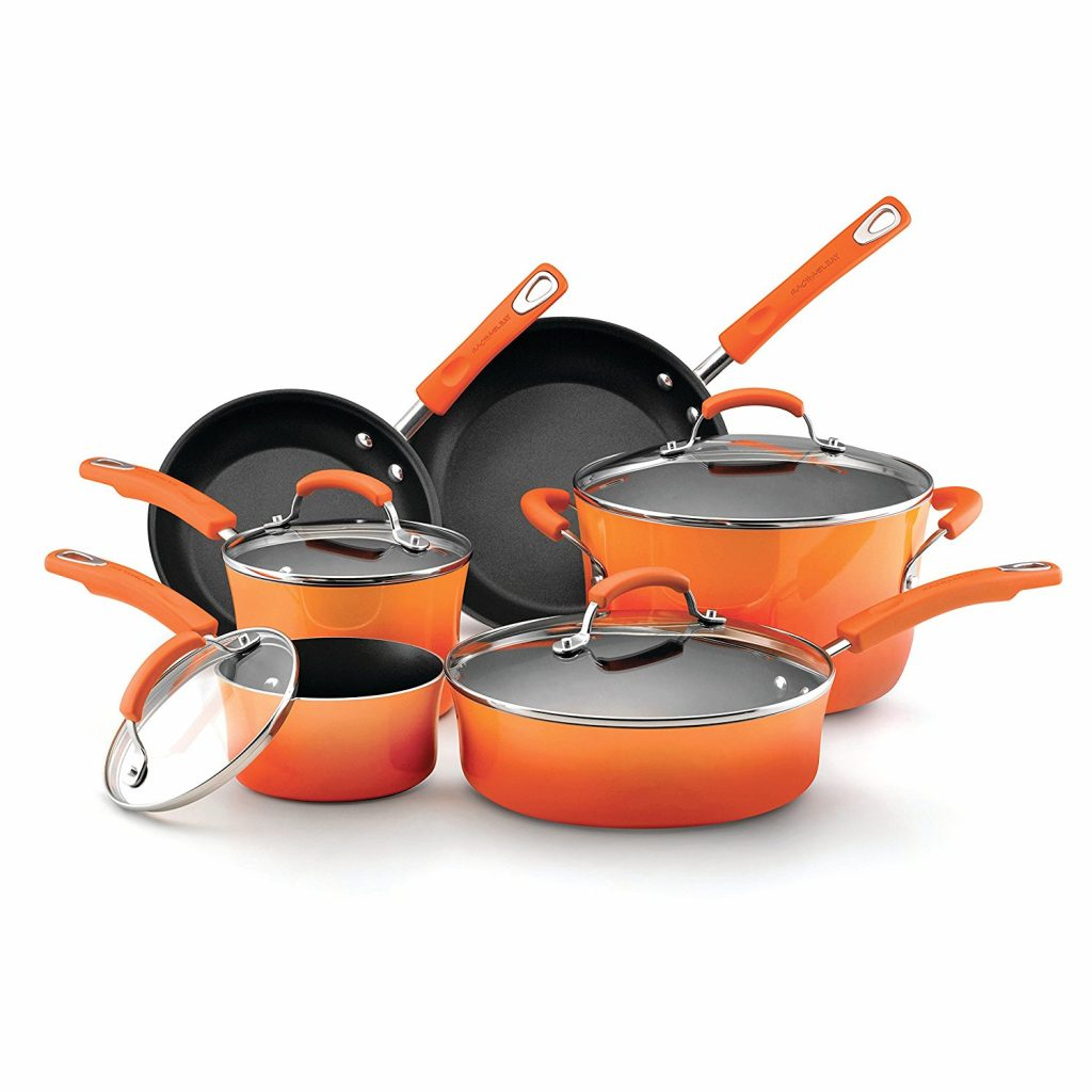 Rachael Ray Hard Enamel Nonstick 10-Piece Cookware Set
