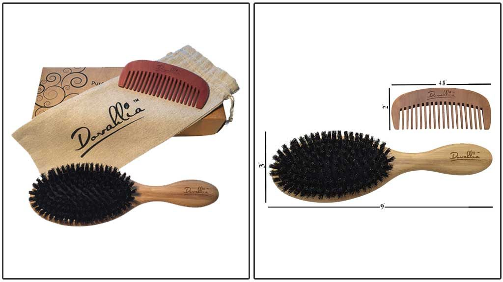 Dovahlia Boar Bristle Hair Brush Set