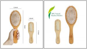 NIPOO Natural Wooden Paddle Hair Brush