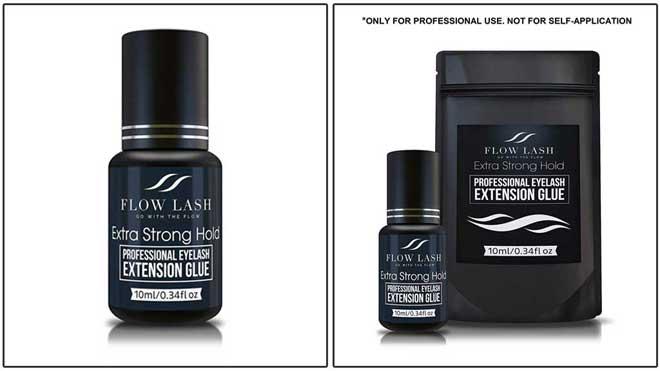 FLOW LASH Extra Strong Hold Professional Eyelash Extension Glue
