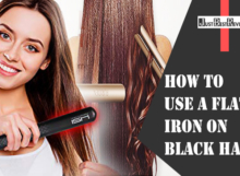 How to use a Flat iron on Black Hair