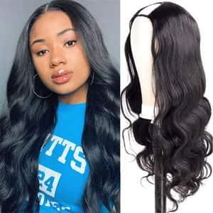 Amella U Part Glueless Human Hair Wig