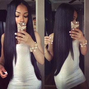 Eayon 9A Virgin Human Hair Full Lace Wigs