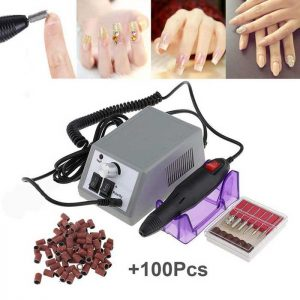 Electric Nail Drill Machine Nail File Drill Set Kit for Acrylic Nails, Gel Nail, Nail Art Polisher Sets Glazing Nail Drill Fast Manicure Pedicure by Buycitky (Rose)