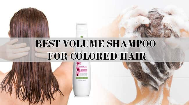 BEST VOLUME SHAMPOO FOR COLORED HAIR